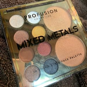 Profusion cosmetics mixed metals face palette
